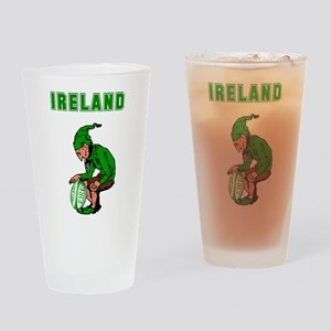 Irish Rugby Drinking Glass