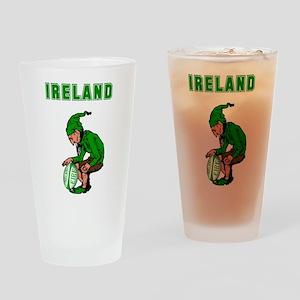 Irish Rugby Drinking Glass