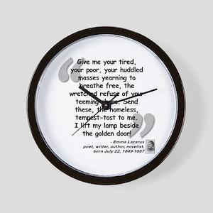 Lazarus Liberty Quote Wall Clock