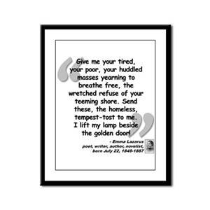 Lazarus Liberty Quote Framed Panel Print