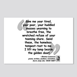 Lazarus Liberty Quote Postcards (Package of 8)