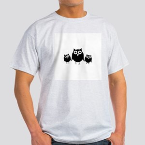 Black owls Light T-Shirt