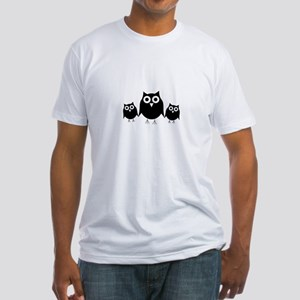 Black owls Fitted T-Shirt