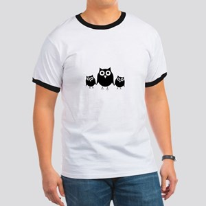 Black owls Ringer T