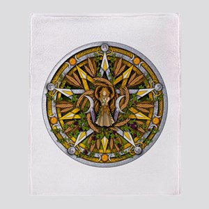 Lammas/Lughnasadh Pentacle Throw Blanket