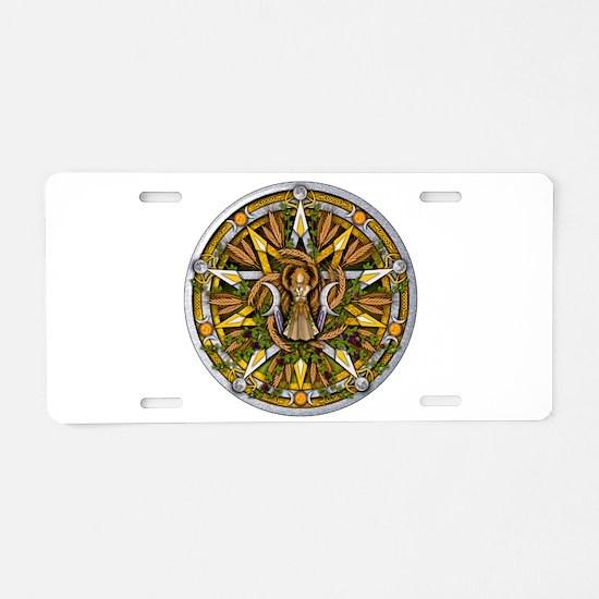 Lammas/Lughnasadh Pentacle Aluminum License Plate