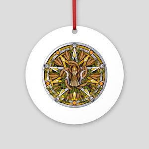 Lammas/Lughnasadh Pentacle Ornament (Round)
