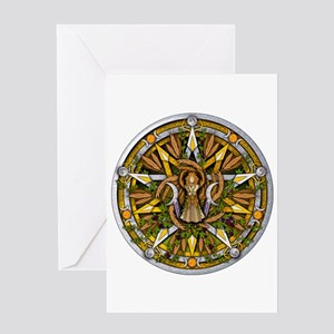 Lammas/Lughnasadh Pentacle Greeting Card