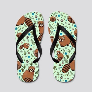 Red Pandas Flip Flops
