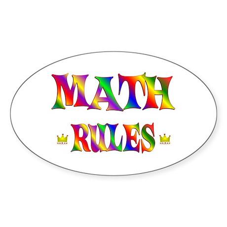 Math Rules Sticker (Oval)