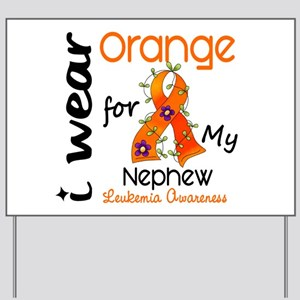 I Wear Orange 43 Leukemia Yard Sign