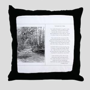 The Road Not Taken Throw Pillow