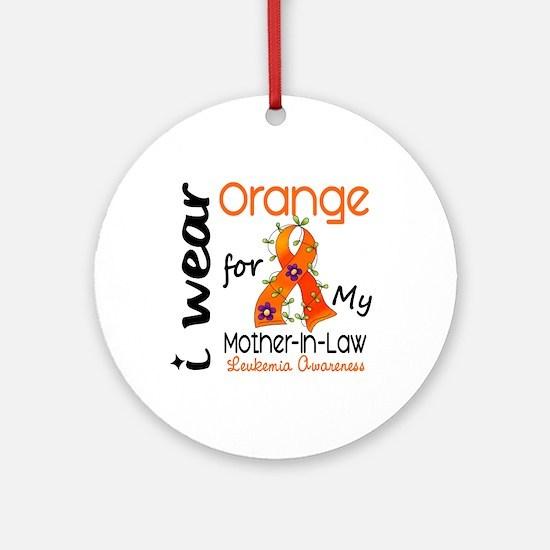 I Wear Orange 43 Leukemia Ornament (Round)