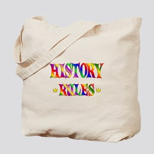 History Rules Tote Bag