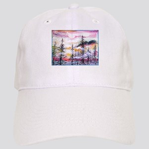 Misty mountains, art, Cap