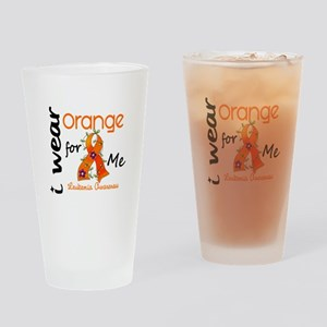 I Wear Orange 43 Leukemia Drinking Glass