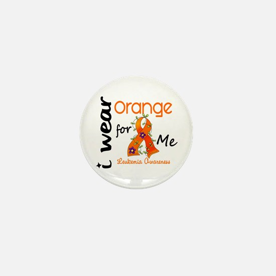 I Wear Orange 43 Leukemia Mini Button