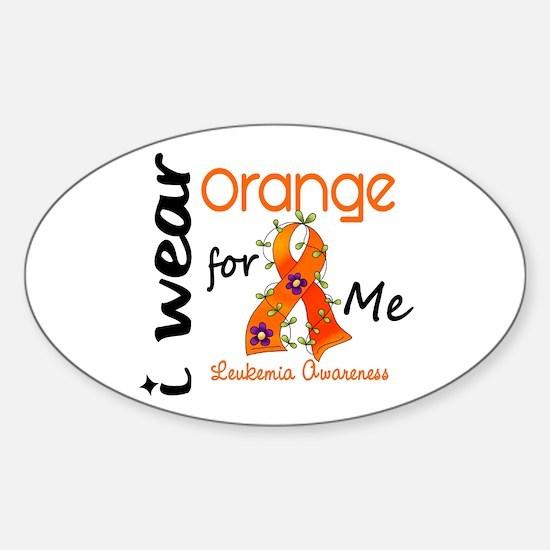 I Wear Orange 43 Leukemia Sticker (Oval)