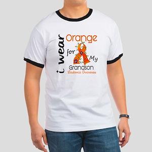 I Wear Orange 43 Leukemia Ringer T