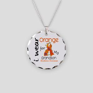 I Wear Orange 43 Leukemia Necklace Circle Charm