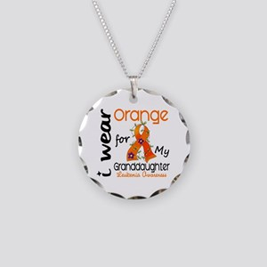 I Wear Orange 43 Leukemia Necklace Circle Charm