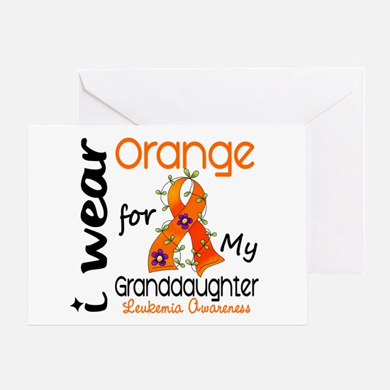 I Wear Orange 43 Leukemia Greeting Card