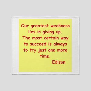 Thomas Edison quotes Throw Blanket