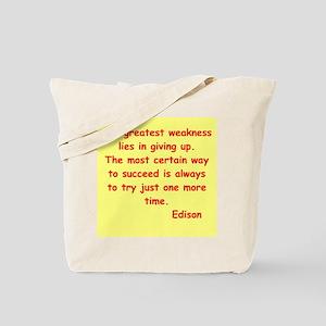 Thomas Edison quotes Tote Bag