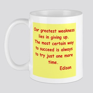 Thomas Edison quotes Mug