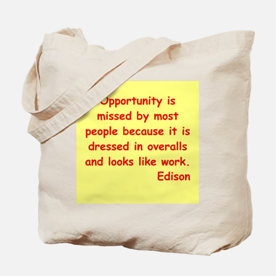Thomas Edison quotes Tote Bag