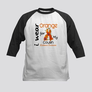 I Wear Orange 43 Leukemia Kids Baseball Jersey
