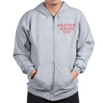 Girls have muscles too V1 Zip Hoodie