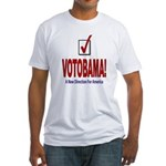 VOTOBAMA! Fitted T-Shirt