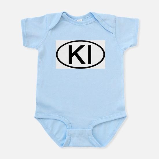 KI - Initial Oval Infant Creeper