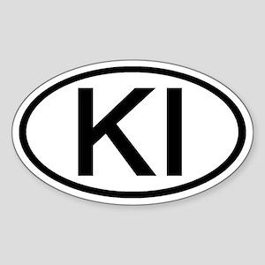 KI - Initial Oval Oval Sticker