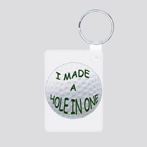 I MADE A HOLE IN ONE Aluminum Photo Keychain