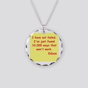 Thomas Edison quotes Necklace Circle Charm
