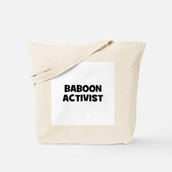 Baboon Activist Tote Bag