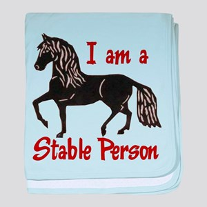 Stable Person baby blanket