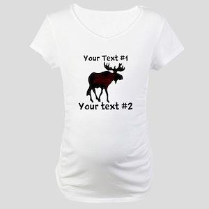 customize Moose Maternity T-Shirt