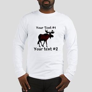 customize Moose Long Sleeve T-Shirt