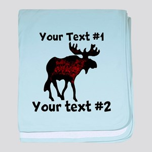 customize Moose baby blanket
