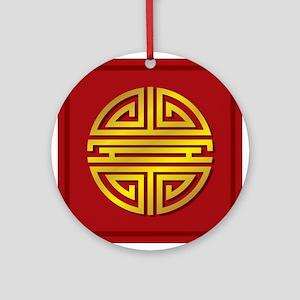 Chinese Longevity Sign Ornament (Round)