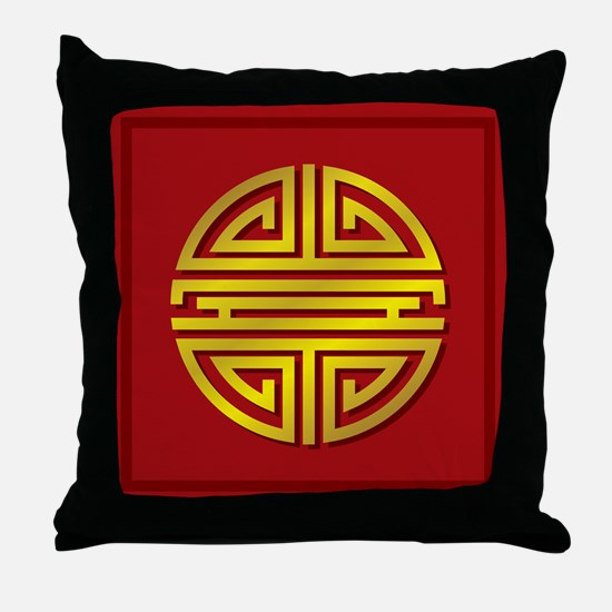 Chinese Longevity Sign Throw Pillow