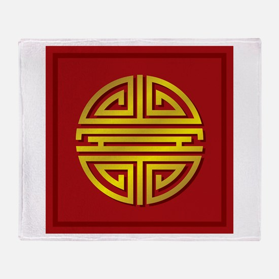 Chinese Longevity Sign Throw Blanket