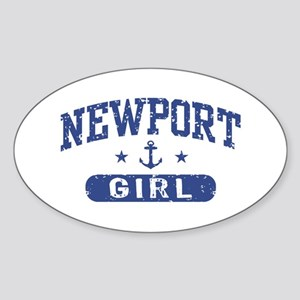 Newport Girl Sticker (Oval)