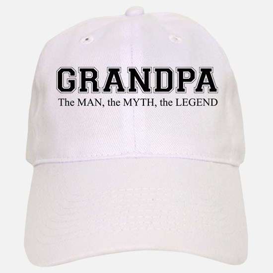 Grandpa The Man Myth Legend Baseball Baseball Cap