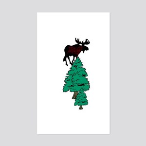 Moose in the Woods Sticker (Rectangle)