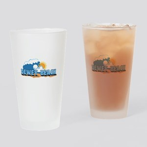 Dewey Beach DE - Waves Design Drinking Glass