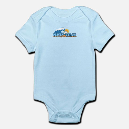 Dewey Beach DE - Waves Design Infant Bodysuit